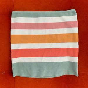 Striped Tube Top ⚪️ Size S